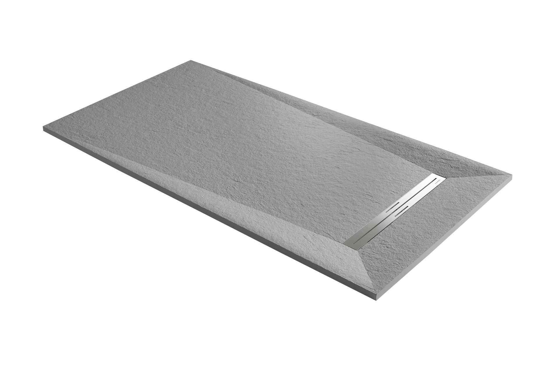 AQUABELLA PLATO DE DUCHA PRISMA SLATE blanco40_sinsuelo_cemento