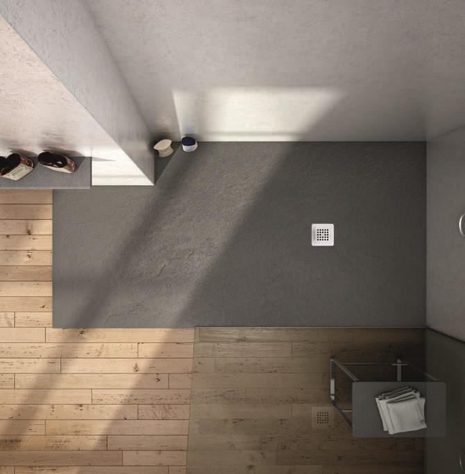 Minimalistische Einrichtung im Badezimmer.