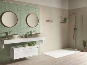 Badezimmer im Vintage-Stil.