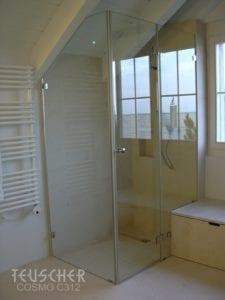 Bodengleiche Dusche in Altbau-Wohnung.